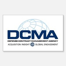 DCMA Brand on Light Background Decal