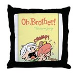 Hungry Bud Throw Pillow