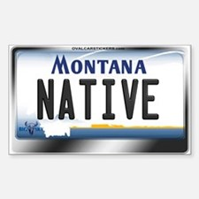 Montana License Plate - [NATIVE] Decal