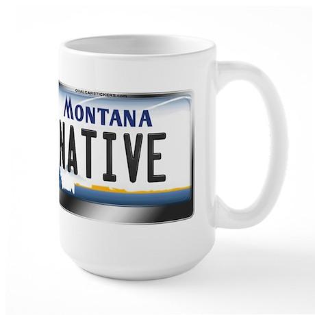 Montana License Plate - [NATIVE] Large Mug