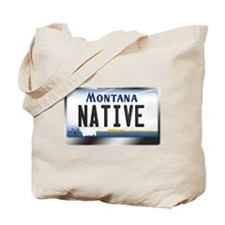 Montana License Plate - [NATIVE] Tote Bag