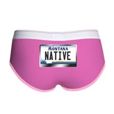 Montana License Plate - [NATIVE] Women's Boy Brief
