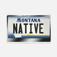 Montana License Plate - [NATIVE] Rectangle Magnet