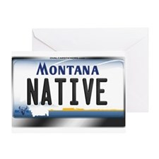 Montana License Plate - [NATIVE] Greeting Card