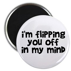 Flipping You Off Magnet