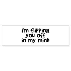 Flipping You Off Sticker (Bumper)