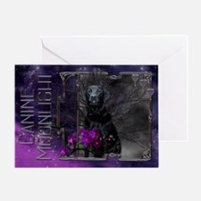 Canine Moonlight Greeting Card