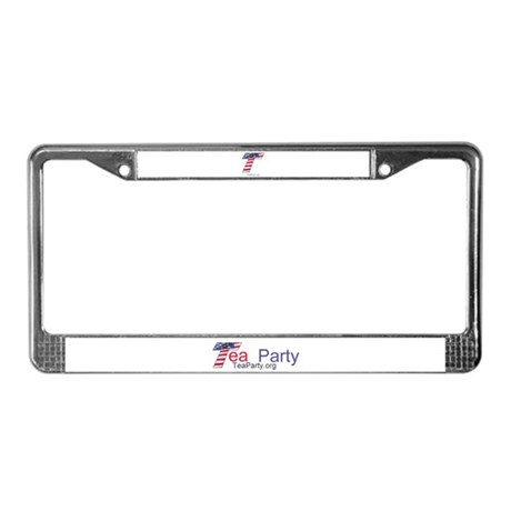 Tea Party License Plate Frame