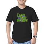 Love Your Mother (Earth) Men's Fitted T-Shirt (dar