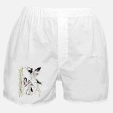 Two Cranes In Bamboo Boxer Shorts