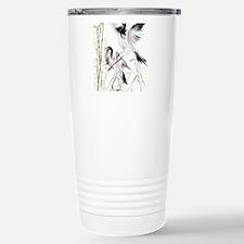 Two Cranes In Bamboo Travel Mug