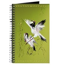Two Cranes In Bamboo Journal