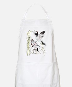 Two Cranes In Bamboo Apron