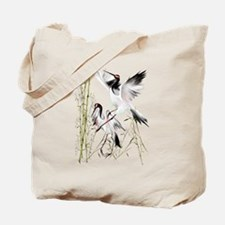 Two Cranes In Bamboo Tote Bag