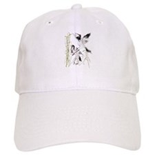 Two Cranes In Bamboo Baseball Cap