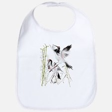 Two Cranes In Bamboo Bib