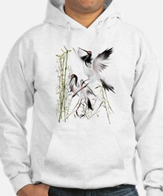 Two Cranes In Bamboo Hoodie