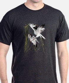 Two Cranes In Bamboo T-Shirt