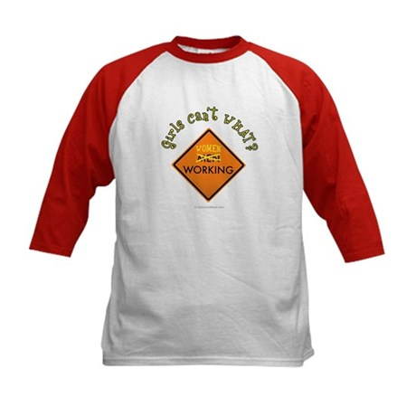 Women Working Sign Kids Baseball Jersey
