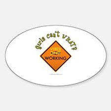 Women Working Sign Decal