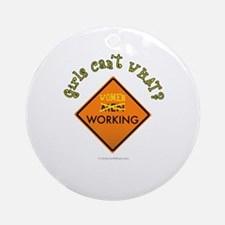 Women Working Sign Ornament (Round)