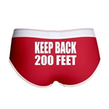 "Women's ""Keep Back"" Boy Brief"