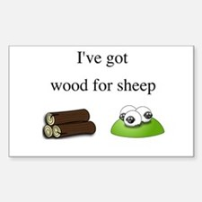 Wood For Sheep Sticker (Rectangle)