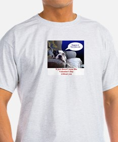 VALENTINES DAY (MISS YOU LOOK) Ash Grey T-Shirt
