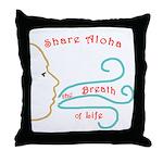 Share Aloha Throw Pillow