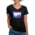 Saint Francis Hospital Women's V-Neck Dark T-Shirt