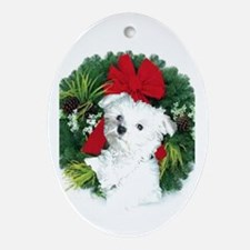 Christmas shopping Oval Ornament