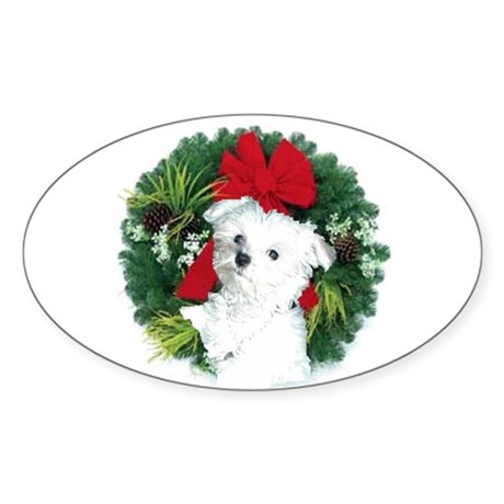 Christmas shopping Oval Sticker