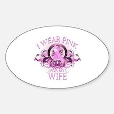I Wear Pink for my Wife (floral) Decal
