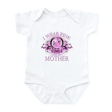 I Wear Pink for my Mother (floral) Infant Bodysuit