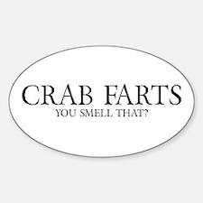 Crab Farts Sticker (Oval)