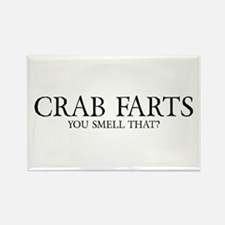 Crab Farts Rectangle Magnet
