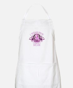 Wear Pink for my Mom (floral) Apron