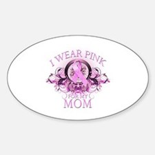 Wear Pink for my Mom (floral) Decal