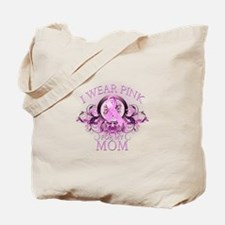 Wear Pink for my Mom (floral) Tote Bag