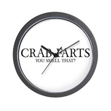 Crab Farts Wall Clock