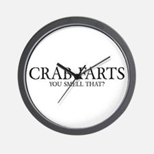 Crab Farts Wall Clock