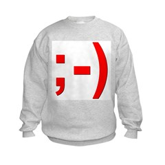 Winking Smiley Face Sweatshirt