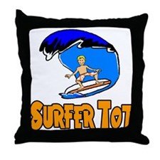 Surf Tot Andrew Throw Pillow