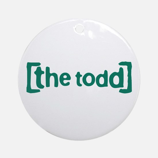 The Todd Round Ornament