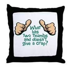 Two Thumbs Throw Pillow
