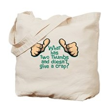 Two Thumbs Tote Bag
