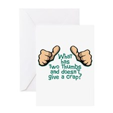 Two Thumbs Greeting Card