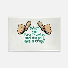 Two Thumbs Rectangle Magnet