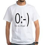 Angel Text Smiley Face White T-Shirt