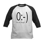 Angel Text Smiley Face Kids Baseball Jersey